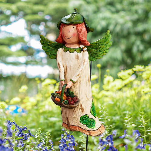 Wings of Whimsy: Goodness Feeds the Soul Garden Angel
