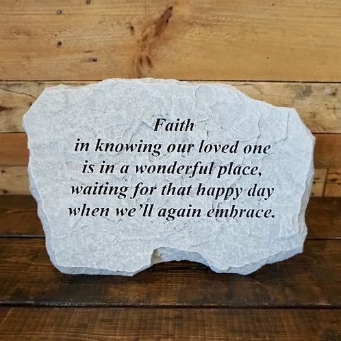 Faith Memorial Stone