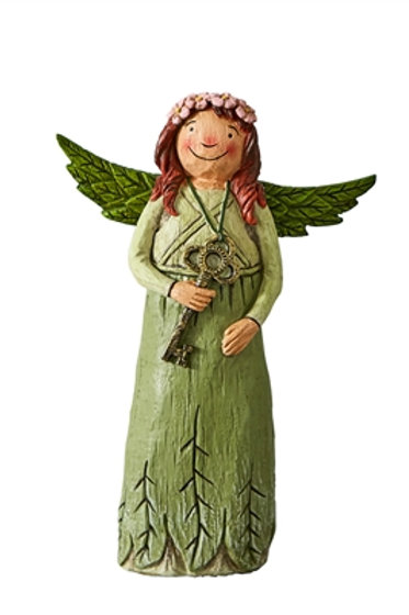 "Wings of Whimsy: Key to Life 8"" Angel Figurine"
