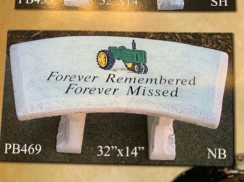 Memorial Bench: Tractor