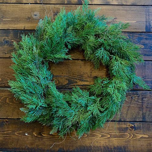 Mixed Cedar Wreath (artificial)