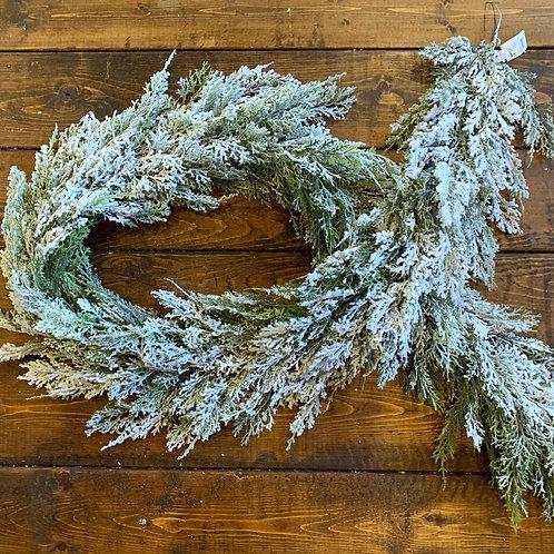 Snow Cedar Garland 6' (artificial)