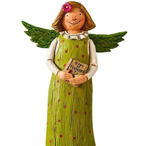 """Wings of Whimsy: Book of Knowledge 8"""" Angel Figurine"""
