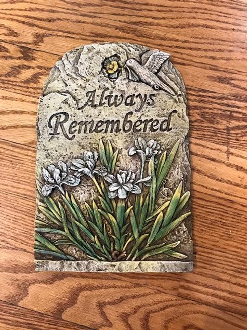 Memorial Plaque: Always Remembered