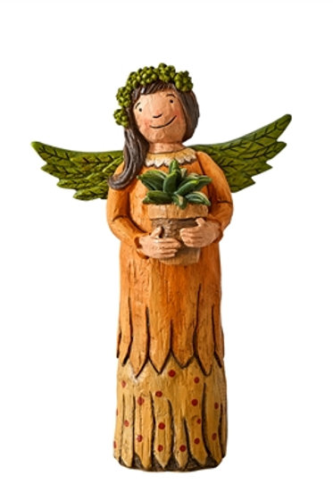 "Wings of Whimsy: Gift of a Garden 8"" Angel Figurine"