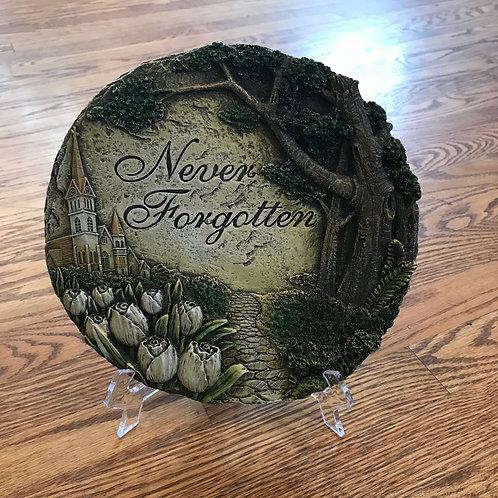 Memorial Plaque: Never Forgotten