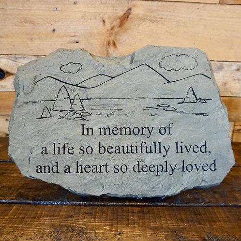 A Life So Beautifully Lived Memorial Stone