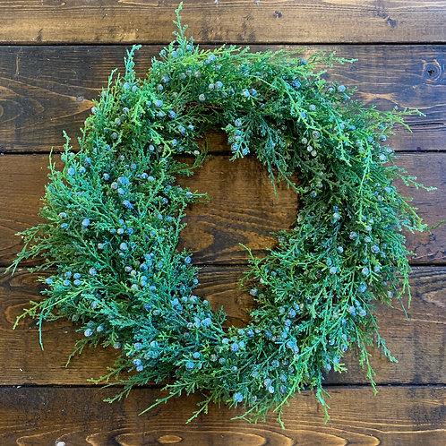 Juniper Wreath (artificial)