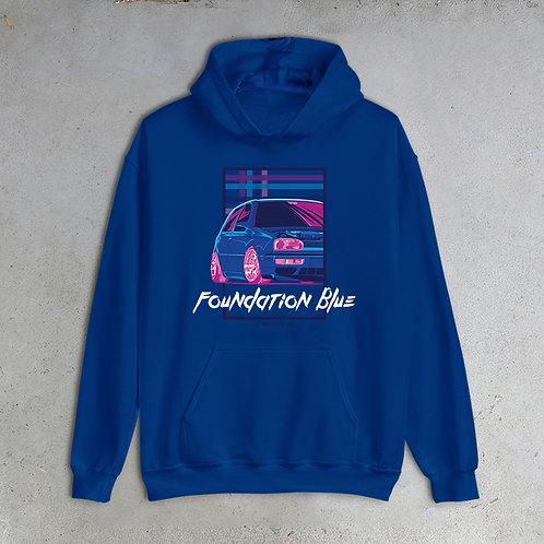 90s New Blue Hoodie