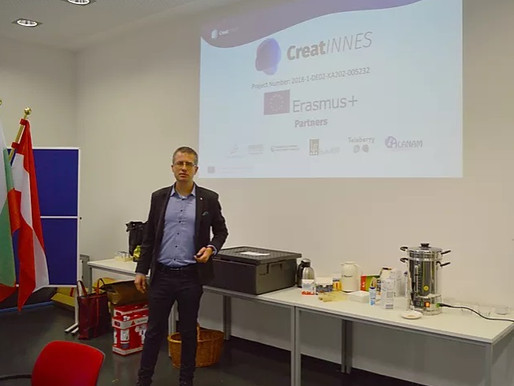 Dr. Petyo Budakov presented CreatINNES project in front of four schools in Kempen, Germany