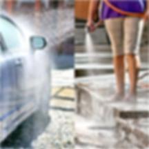 Lavagem calçadas carros