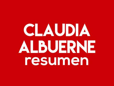 Claudia Albuerne - Resumen