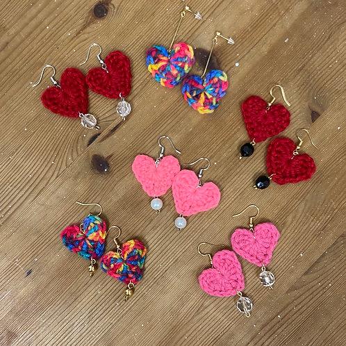 [Wool] Crochet earrings Hooks&Charm-E