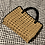 Thumbnail: [Raffia] Leather handle straw bag