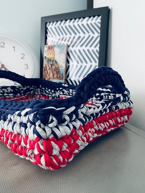 [Cotton] Crochet Basket with Handle
