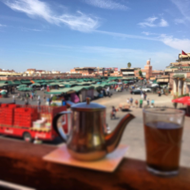Mint tea in Medina