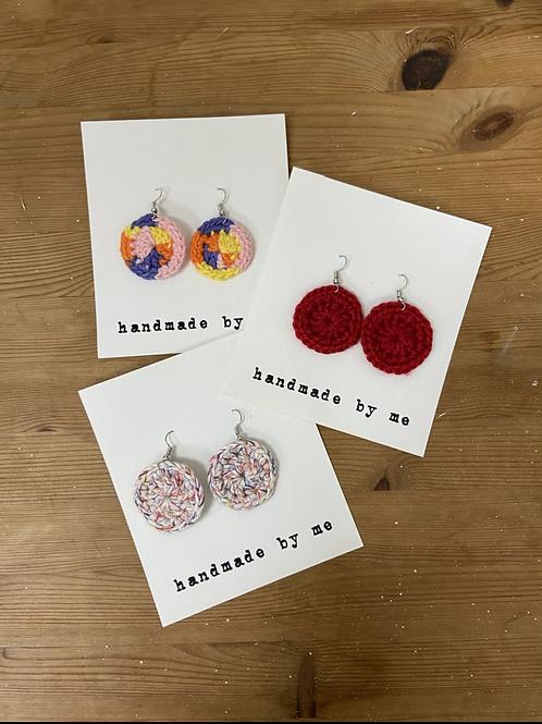 [Mixed] Crochet earrings Hooks&Charm-D