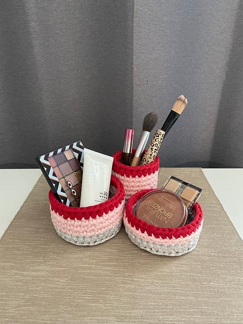 [Cotton] Crochet Basket 3pc-Set