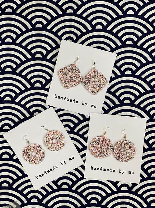 [Cotton] Crochet earrings Hook&Charm-B