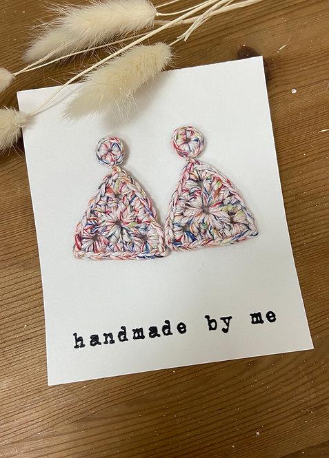 [Cotton] Crochet earrings Pin&Charm-C
