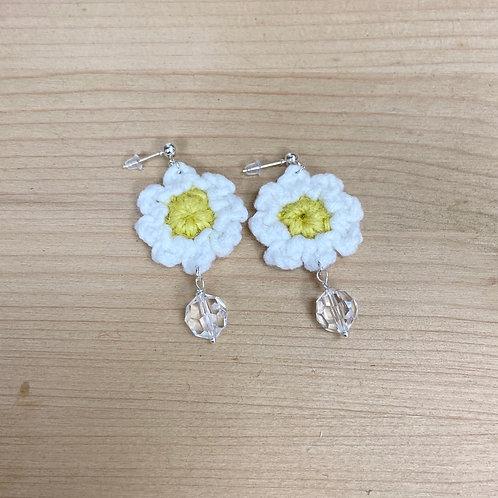 [Hemp] Crochet earrings Hooks&Charm-G