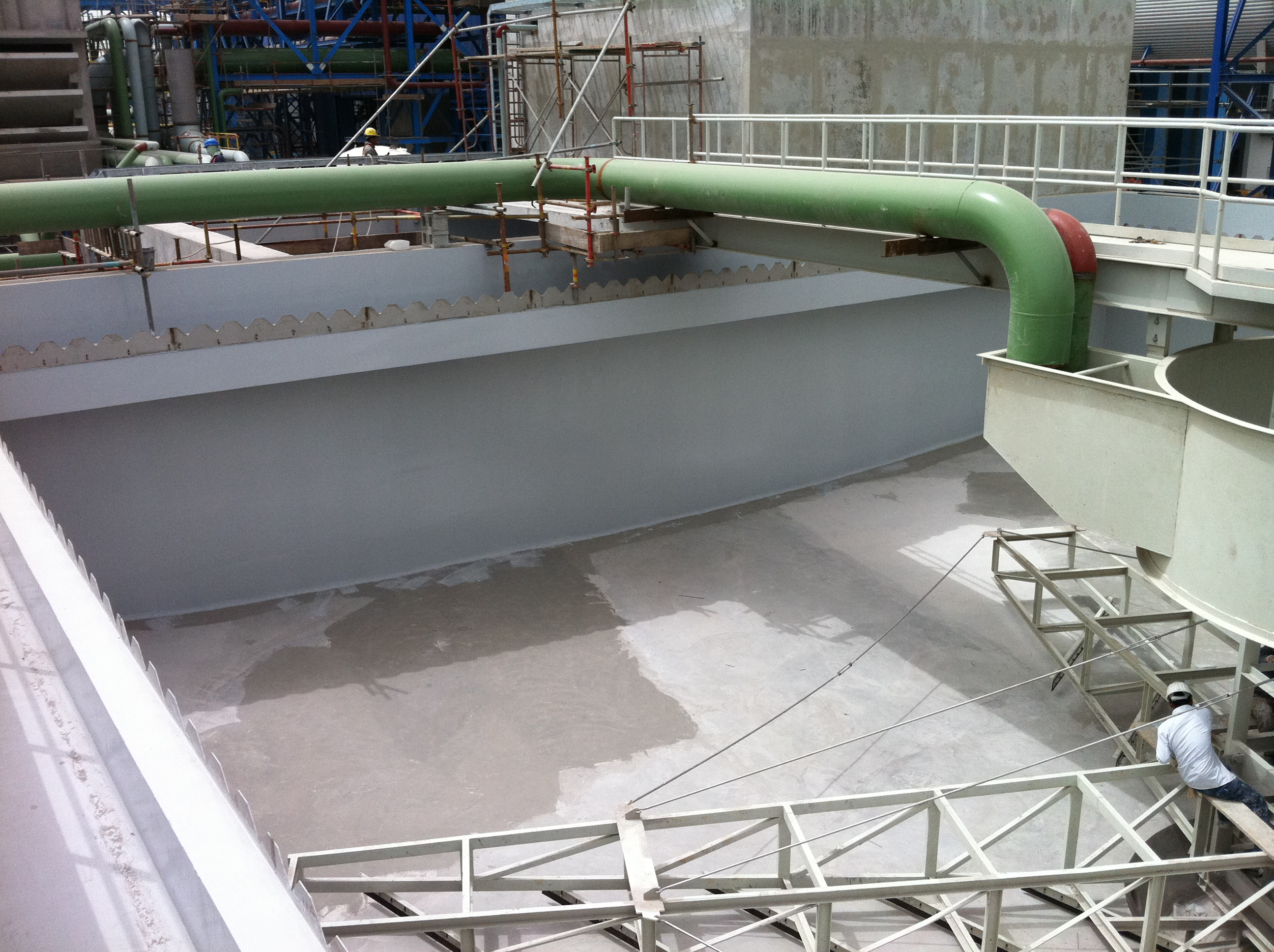 Surface Prepared Sedimentation tank