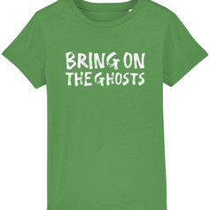 Bring on the ghosts Kids T-Shirt - Dark Green.png