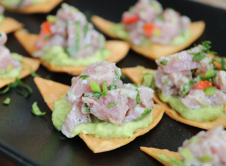 Tuna Ceviche On Crunchy Tortillas