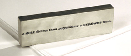 A More Diverse Team Paperweight