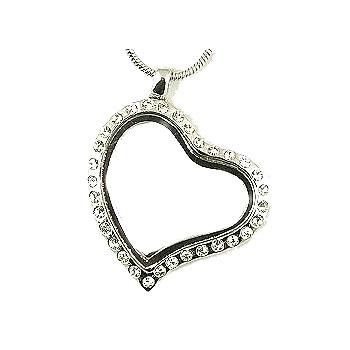 Heart CZ necklace