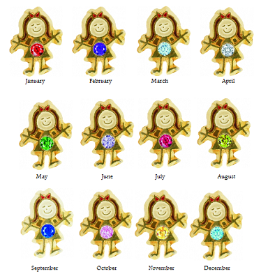 Birthstone Girl Charms