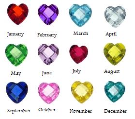 Birthstone Heart Charms