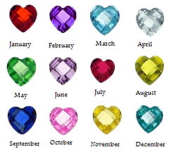 Birthstone Heart Charms