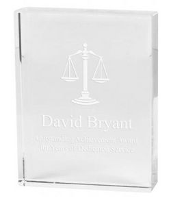 crystal plaque