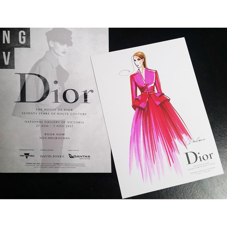 NGV celebrating Dior at the Qantas lounge