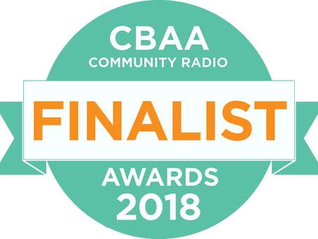 Nominated for THREE national CBAA Awards