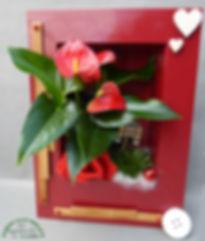 Cadre vegetal saint valentin