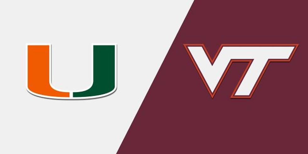 Miami vs VT Basketball