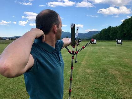 Man Doing Archery