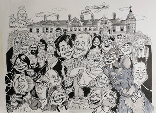 Wedding Caricatures at The Hawkhills