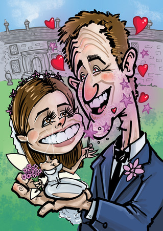 Wedding Caricature Newcastle