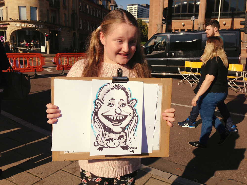 Newcastle Quayside Caricature