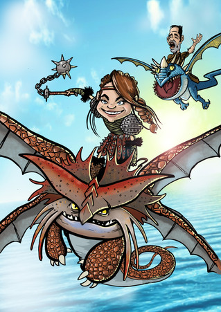 How to Train Your Dragon Gift Caricature