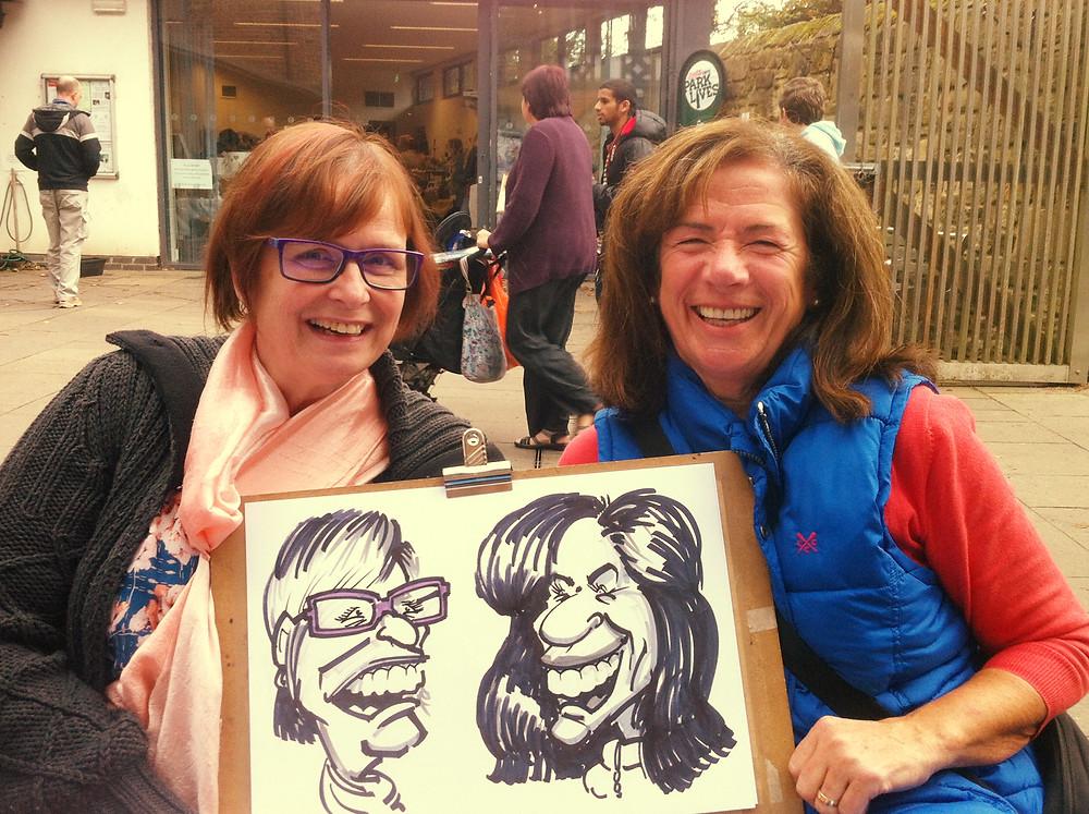 Jesmond Dene Art Market caricature