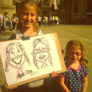 A caricaturist in Durham - August