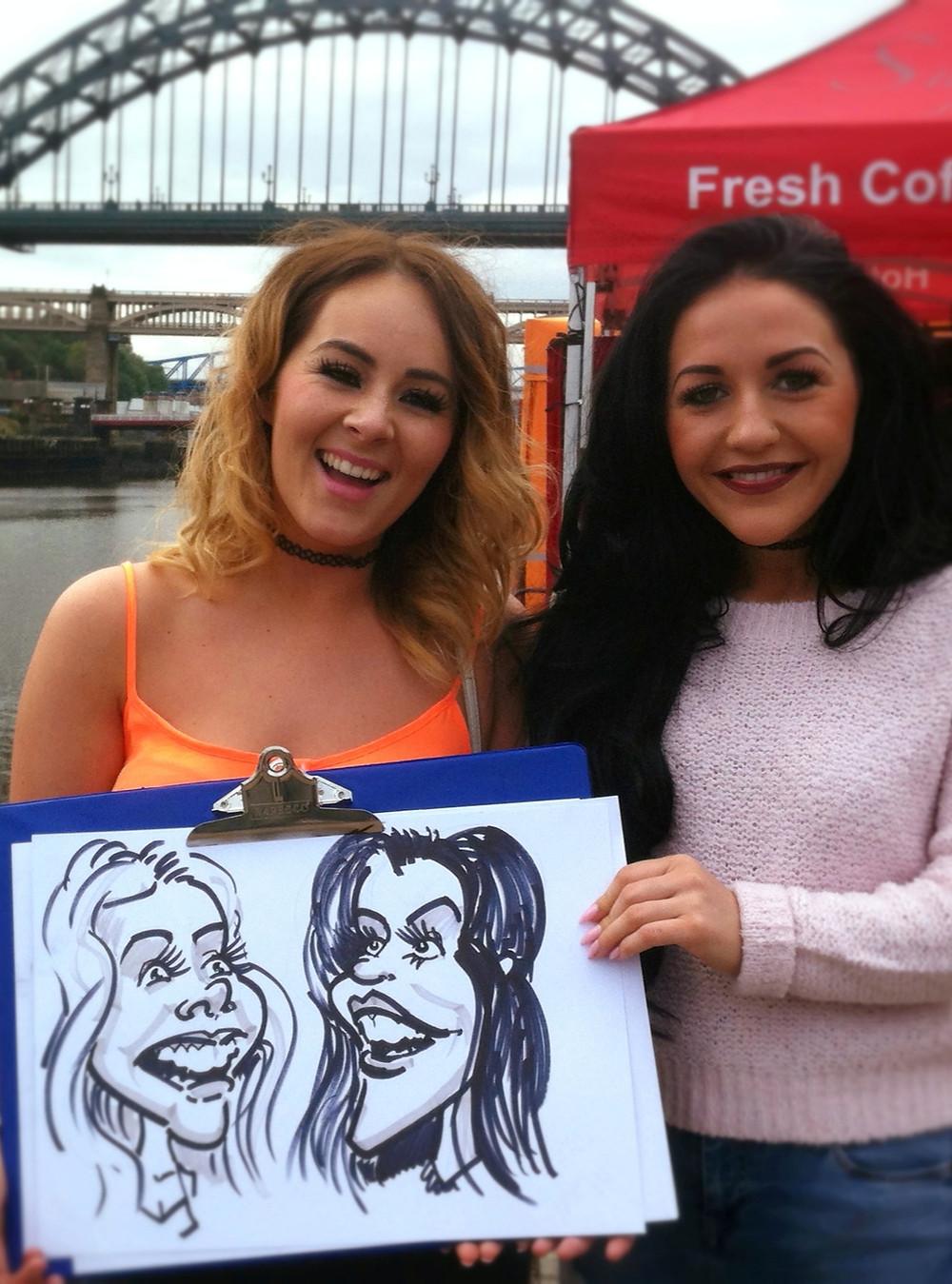 Newcastle Caricature Quayside