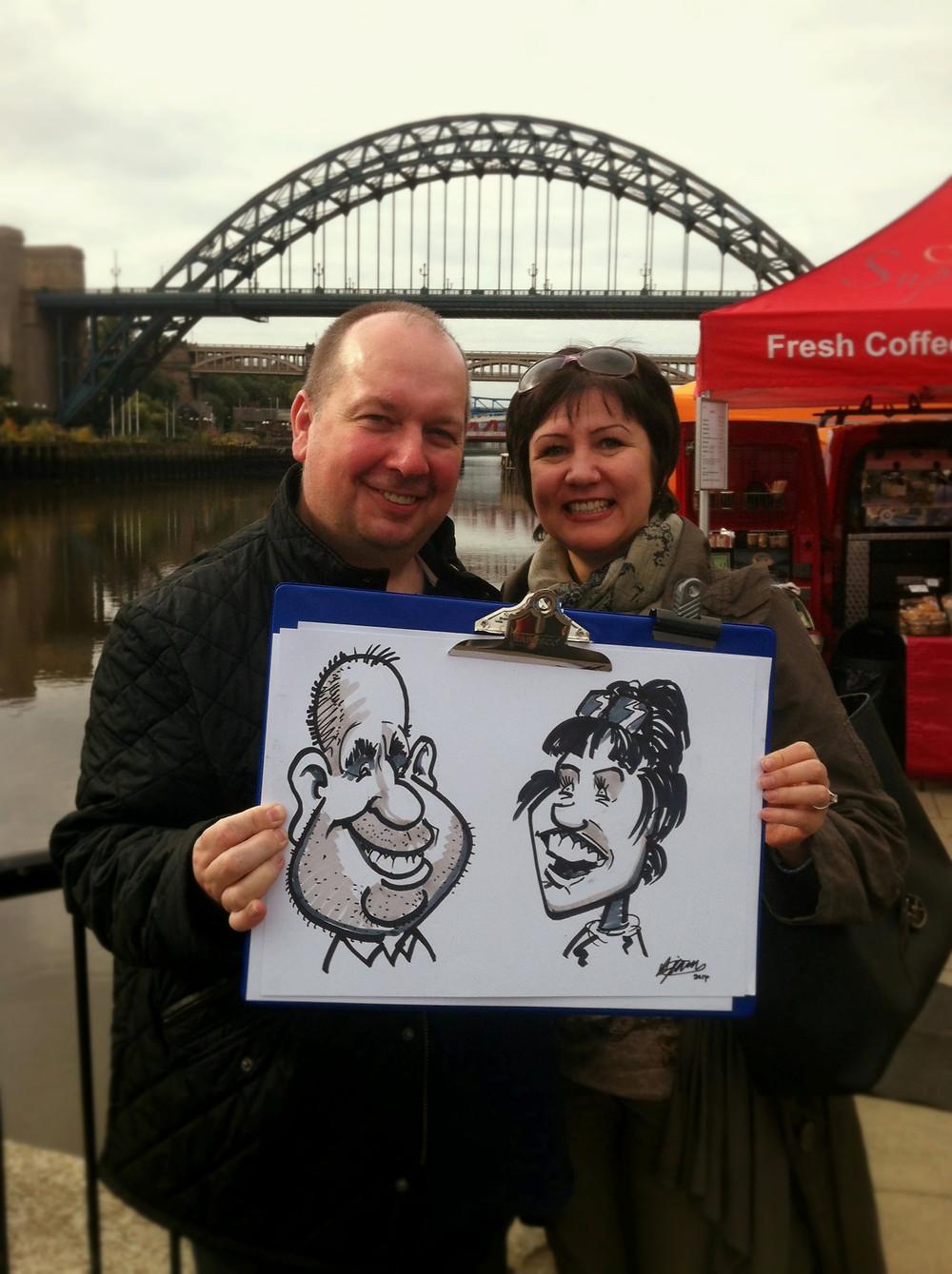 Newcastle Caricature Quay side 1.JPG