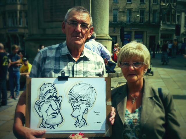 caricaturist North East