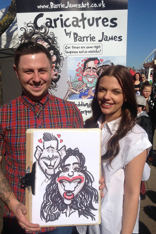 Drawing Caricatures in Newcastle