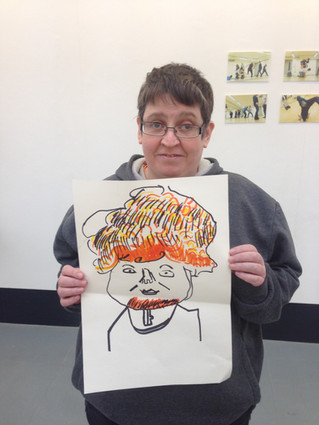 Caricature taster session